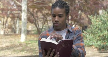 African American Man Reading Bible video