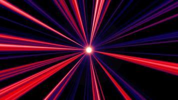 Fondo radial de rayos de luz roja y azul abstracta
