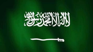 bandera de arabia saudita ondeando, un fondo de animación de bandera.