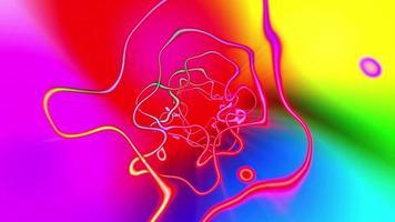 loop sem costura de fundo psicodélico colorido