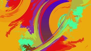animation aquarelle abstraite grunge art coloré video