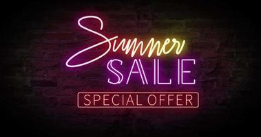 venta de verano neón video