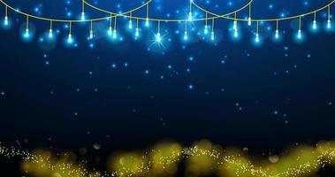 Lichterkette mit eleganten goldenen Partikeln
