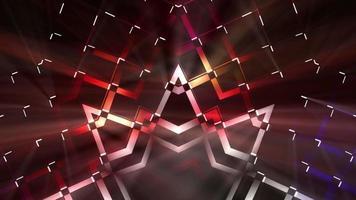 colorido abstracto estrellas puntiagudas patrones fondo lazo video