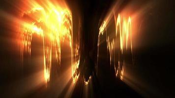 efectos de luz en movimiento abstractos dorados