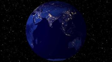 animação de rotação da terra video