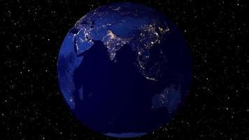 Rotating Earth Animation video