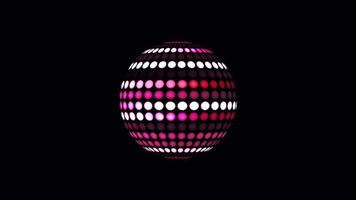 bola de luz digital girando canal alfa