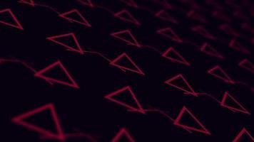 triángulos abstractos y líneas en movimiento