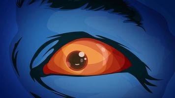 olhos mutantes de super-heróis em quadrinhos video