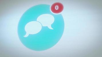 sociaal netcom-pictogram met getallen tellen