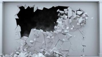 animation de fissuration ou de démolition de mur video