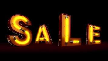perspectiva venda luz néon letreiro video