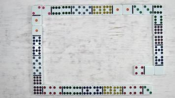 stopmotion de dominó espiral
