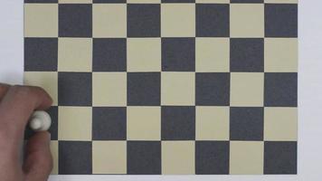 vista superior de piezas de ajedrez