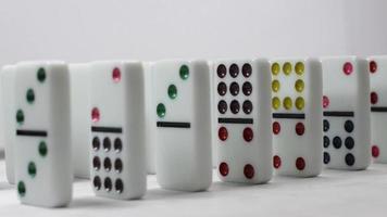 Domino fallen Zeitlupe