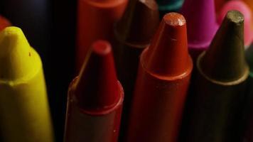 tiro giratório de giz de cera colorido para desenho e artesanato - giz de cera 011