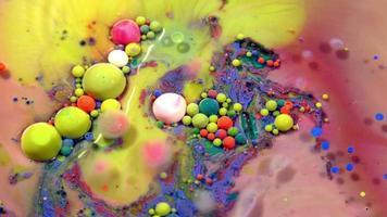 esferas de tinta colorida abstrata