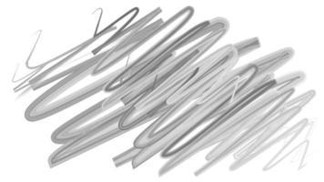 rabiscos desenhados à mão transição fundo pintura pincelada aquarela pintura. animação pintada à mão pincelada em branco. animação de traçados de pincel de água do grunge. design de borda cinza e preta.