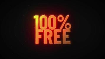 Texto queima de oferta especial de venda 4k revelar