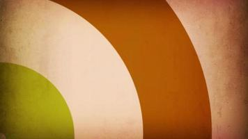 loop de círculos abstratos vintage video