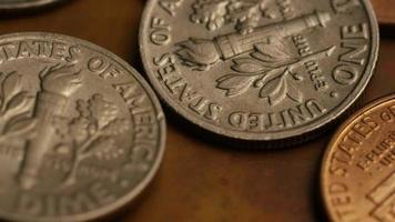 Imágenes de archivo giratorias tomadas de monedas monetarias estadounidenses - dinero 0325