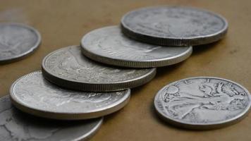 Imágenes de archivo giratorias tomadas de monedas americanas antiguas - dinero 0119