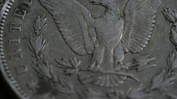 Imágenes de archivo giratorias tomadas de monedas americanas antiguas - dinero 0124