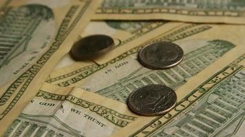 Disparo giratorio de dinero americano (moneda) - dinero 578
