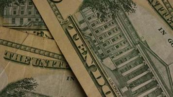Disparo giratorio de dinero americano (moneda) - dinero 500