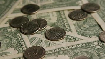 dose rotativa de dinheiro americano (moeda) - dinheiro 543