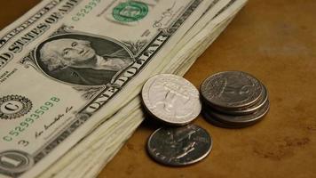 Disparo giratorio de dinero americano (moneda) - dinero 547