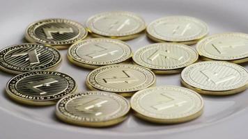 colpo rotante di bitcoin litecoin (criptovaluta digitale) - bitcoin litecoin 0014