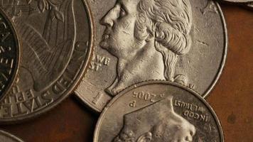 Imágenes de archivo giratorias tomadas de monedas monetarias estadounidenses - dinero 0251
