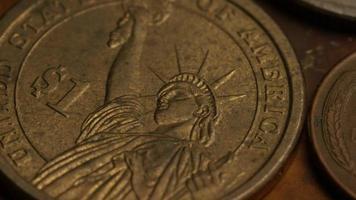 Imágenes de archivo giratorias tomadas de monedas monetarias estadounidenses - dinero 0349