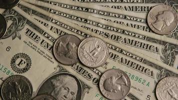 Disparo giratorio de dinero americano (moneda) - dinero 539