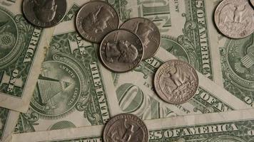 Disparo giratorio de dinero americano (moneda) - dinero 541