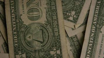 Disparo giratorio de dinero americano (moneda) - dinero 462