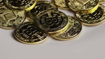 colpo rotante di bitcoin (criptovaluta digitale) - bitcoin 0392