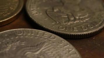 Imágenes de archivo giratorias tomadas de monedas monetarias americanas - dinero 0357