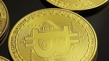 colpo rotante di bitcoin (criptovaluta digitale) - bitcoin 0025