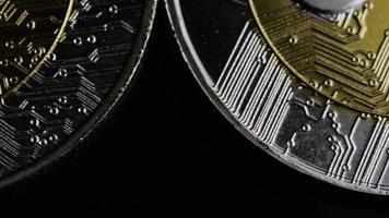 Tir rotatif de bitcoins (crypto-monnaie numérique) - ondulation bitcoin 0087 video
