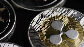 Tir rotatif de bitcoins (crypto-monnaie numérique) - ondulation bitcoin 0170 video