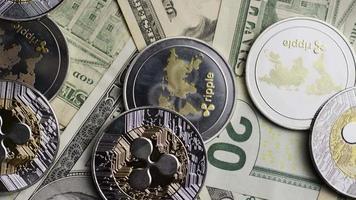 Tir rotatif de bitcoins (crypto-monnaie numérique) - ondulation bitcoin 0294 video
