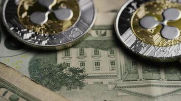 Tir tournant de bitcoins (crypto-monnaie numérique) - ondulation bitcoin 0239 video