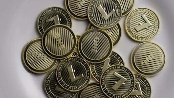 colpo rotante di bitcoin litecoin (criptovaluta digitale) - bitcoin litecoin 0065