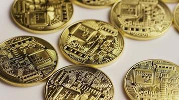 roterende opname van bitcoins (digitale cryptocurrency) - bitcoin 0143
