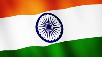 India flag waving, A flag animation background.