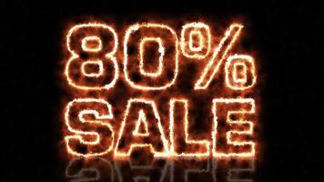 oitenta por cento de animação da carta de venda