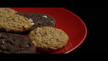 Cinematic, Rotating Shot of Cookies on a Plate - COOKIES 098 video